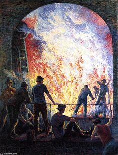 Maximilien Luce  - Steelworks
