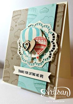 A vintage look for the new Lift me up stamp set from Stampin' Up!