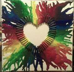 Melted crayon heart . I created it for my good friend.