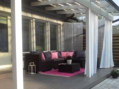 Pieni Suuri Ylellisyysgalleria - Kesälounge Pergola, The Originals, Garden, Life, Outdoor, Furniture, Terrace Ideas, Home Decor, Porches