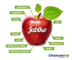 Jabłko kusi nie tylko smakiem, ale i bogactwem składników odżywczych.  #cholesterol #jabłko #witaminy #minerały