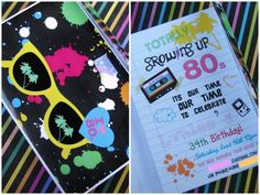 I'm totally loving this 80's themed party!!  Oh the memories.......