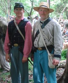 Marshall Pederson, left, and his father Neal of Geneva recently participated in a 150th anniversary reenactment of the Battle of Gettysburg.