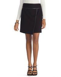 Wrapped Black Mini Skirt