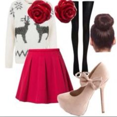 Christmas is 11 days away. Get ready for Christmas with this amazing christmas evening outfit!