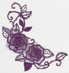 Briar Rose - Rose Corner | Urban Threads: Unique and Awesome Embroidery Designs