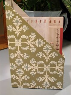 Sew Many Ways...: Tool Time Tuesday...Recycled Cereal Box Magazine Holder