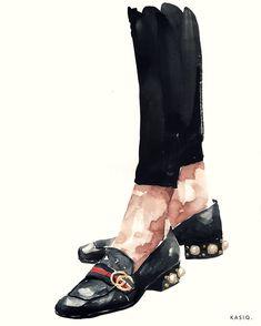 watercolor on paper © kasiq .Peyton faux-pearl heel leather … watercolor on paper © kasiq . Fashion Illustration Shoes, Illustration Mode, Watercolor Illustration, Watercolor Art, Shoe Sketches, Fashion Sketches, Fashion Art, Fashion Shoes, Scarlett