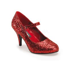 Funtasma Women's 'Glinda-50G' Red Glitter Pumps