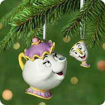 2001 Disney - Mrs. Potts and Chip Hallmark Ornament at The Ornament Shop