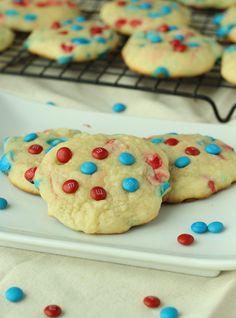 Patriotic M Sugar Cookies - A unique, old-fashioned sugar cookie recipe!
