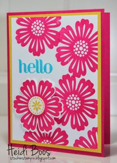 Stuck on Stampin': Stylin' Stampin' Squad Blog Hop - spring flowers, Heidi Boos, Stampin' Up!