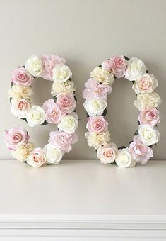Floral Number Flower 90th Birthday Party Decorations Gifts