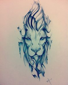 Edson Tovar: Lion, the king. My Tattoo design. #LionTattoo #ReyLeón