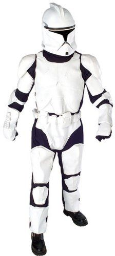 Star Wars Deluxe Clone Trooper Costume With Body Armor Gloves And Mask