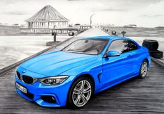 BMW M4. A3 size, with pencils, markers