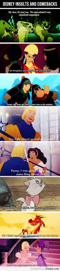Disney Insults And Comebacks Also the last girl looks like the red queen from once upon a time in wonderland.