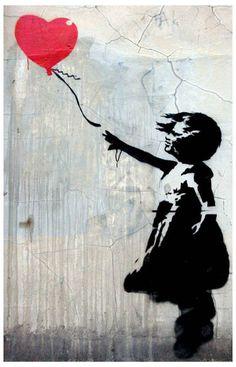 Banksy Graffiti Balloon Girl Street Art 11x17 Poster