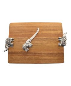 Look at this Elephant Serving Board & Spreader on #zulily today!