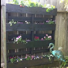 Hanging planter box out of pallets