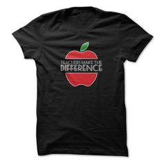 Teachers Make The Difference Funny Shirt T-Shirts, Hoodies (19$ ==► Order Here!)