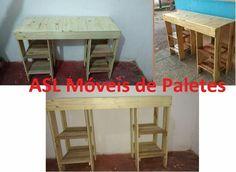 Mesa de estudo de paletes Pedidos 92991945468 #decoração  #paletes #sustentabilidade