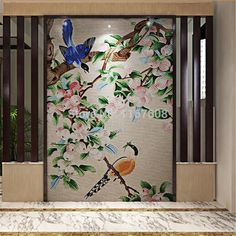 Magnificent Flowers wall Tile/glass mosaic wall tiles Modern Art Wall Mural /home decoration/bathroom wall tile/hotel decoration-in Mosaics from Home Improvement on Aliexpress.com | Alibaba Group