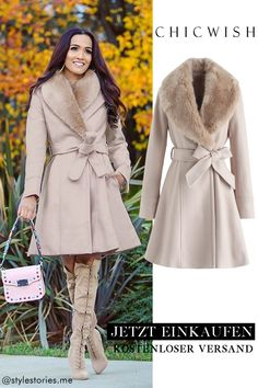 Faux Fur Collar, Fur Collars, Mode Outfits, Fashion Outfits, Sporty Fashion, Ski Fashion, Mode Mantel, Coats For Women, Clothes For Women