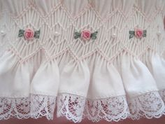 Beautiful White Hand Smocked Bonnet for by AnnetteGraceDesigns