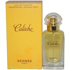 Caleche By Hermes For Women. Eau De Toilette Spray 1.6 Oz. by Hermes. $63.12. This item is not for sale in Catalina Island. Packaging for this product may vary from that shown in the image above. Launched by the design house of Hermes in 1961, CALECHE PERFUME is classified as a refined, woody, mossy fragrance. This feminine scent possesses a blend of rose, iris, oakmoss, and woods. It is recommended for evening wear.. Save 16%!