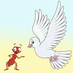 La paloma y la hormiga. Cuentos de animales http://www.encuentos.com/cuentos-de-animales/la-paloma-y-la-hormiga/