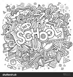 Find Cartoon Cute Doodles Hand Drawn School stock images in HD and millions of other royalty-free stock photos, illustrations and vectors in the Shutterstock collection. Thousands of new, high-quality pictures added every day. Cute Doodle Art, Doodle Art Designs, Cool Doodles, Doodle Art Drawing, Coloring Book Pages, Coloring Pages For Kids, Doodle Inspiration, Doodle Ideas, Butterfly Drawing
