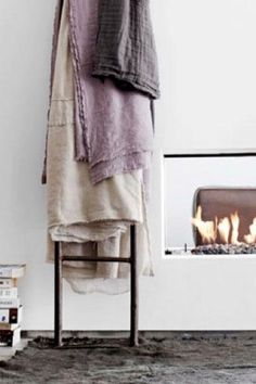 6 Ways to Style a Cozy Throw: On a Ladder