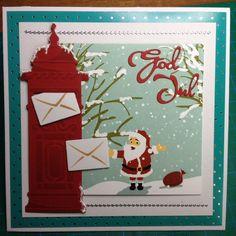 Kort jul julemand postkasse julepost
