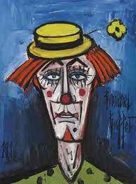 Image; Clown à la fleur jaune Artist; Bernard Buffet. Circa. 1928 COPYWRITE ©