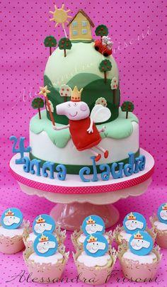 Peppa pig Cake . Frisoni Alessandra Studio Cake