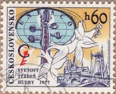 Music Week, European Countries, World Music, Czech Republic, Postage Stamps, Musical Instruments, Album, Stamps, Music Instruments