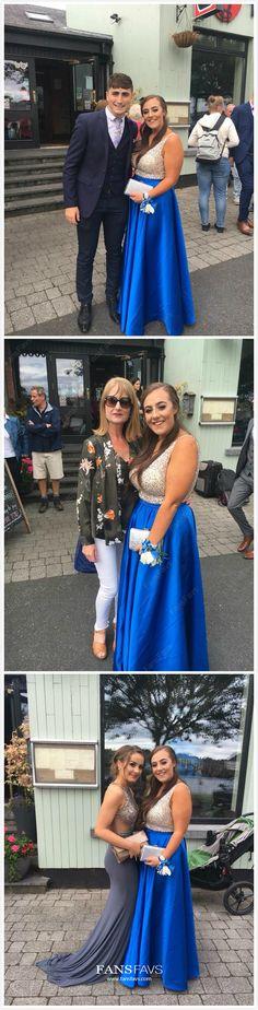 Long Prom Dresses Modest 2019 Royal Blue Formal Dresses Sparkly A Line Military Ball Dress V Neck Royal Blue Formal Dresses, Best Formal Dresses, Prom Dresses For Teens, A Line Prom Dresses, Formal Evening Dresses, Ball Dresses, Party Dresses, Formal Prom, Mini Dresses