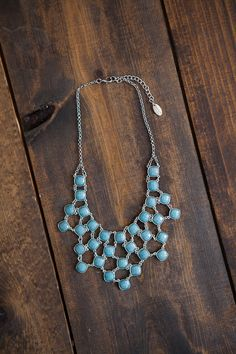 Magnolia Boutique Indianapolis - Bib Necklace Set - Blue, $26.00 (http://www.indiefashionboutique.com/bib-necklace-set-blue/)