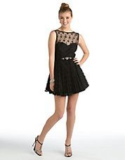 Lace Fit-and-Flare Dress at Lord & Taylor