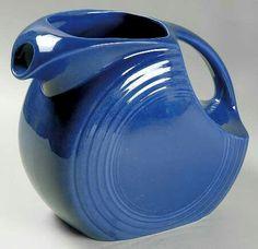 Cobalt Disk Water Pitcher