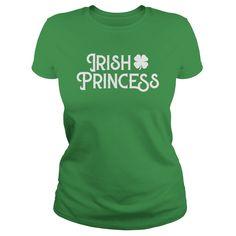 St patricks day irish princess holiday tshirt  girls women