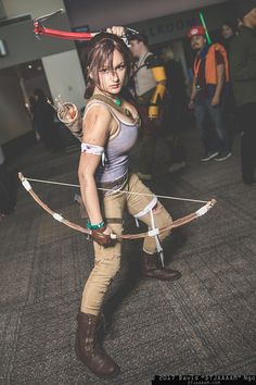 Lara Croft (Tomb Raider) #cosplay at SacAnime Winter 2017, Photo by DTJAAAAM