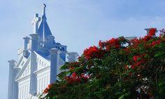 Iglesia en Duval Street Key West. Los colores de este Cayo de Florida los han sacado directamente de mis sueños!