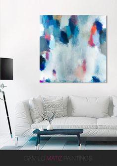 Resumen de la pintura la pintura de acrílico arte abstracto