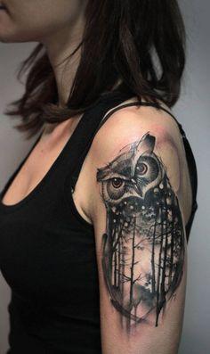 Owl tattoo ideas - tattoo designs for women! owl tattoo ideas - tattoo designs for women! Wolf Tattoos, Neue Tattoos, Body Art Tattoos, Tattoo Drawings, Tattoo Designs For Women, Tattoos For Women Small, Piercing Tattoo, Owl Tattoo Meaning, Colorful Owl Tattoo