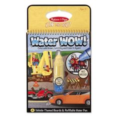 Melissa & Doug Water Wow Coloring Book - Vehicles No-mess painting for kids! This exciting paint-with-water coloring book includes four reusable pages and a Wow Travel, Travel With Kids, Toddler Travel, Baby Travel, Travel Activities, Book Activities, Airplane Activities, Toddler Activities, Airplane Toys