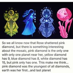 Wow, now I want to see a childish pink diamond. I can see her having a lot of enthusiasm, like Steven, about learning how to do her job and... Oh, can someone make this into an AU or something, please?