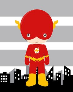 Flash superhero wall decor prints superhero by AmysDesignShoppe