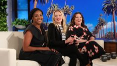 "The stars of the upcoming action drama ""The Kitchen"" – Melissa McCarthy, Tiffany Haddish, and Elisabeth Moss – stopped by to talk with Ellen about their firs. Tiffany Haddish, Elisabeth Moss, The Ellen Show, Melissa Mccarthy, Running For President, Drama, Actors, Friends, Lady"